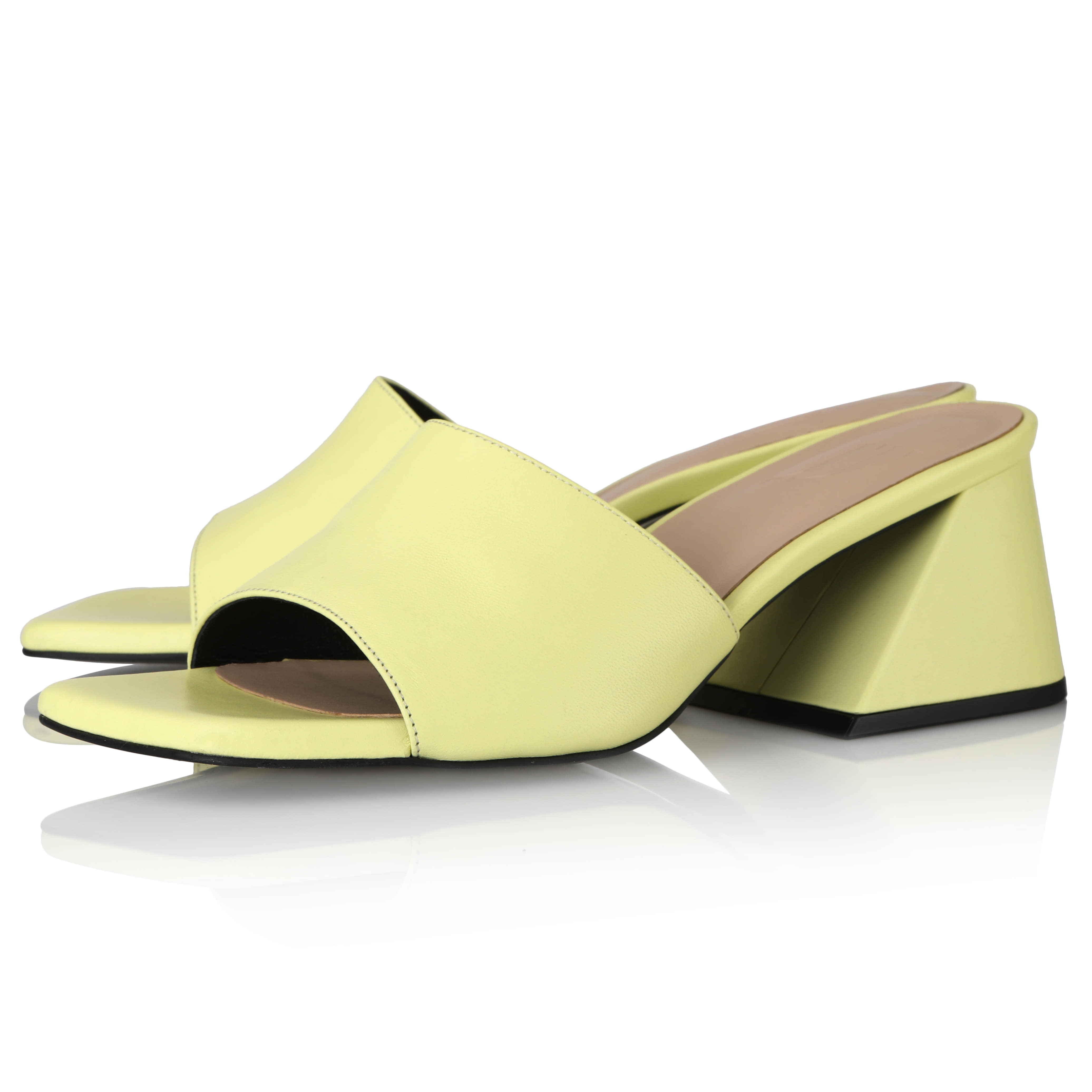Y.01 Jane Candy Y Mules / YY20S-S47 / Pale Yellow