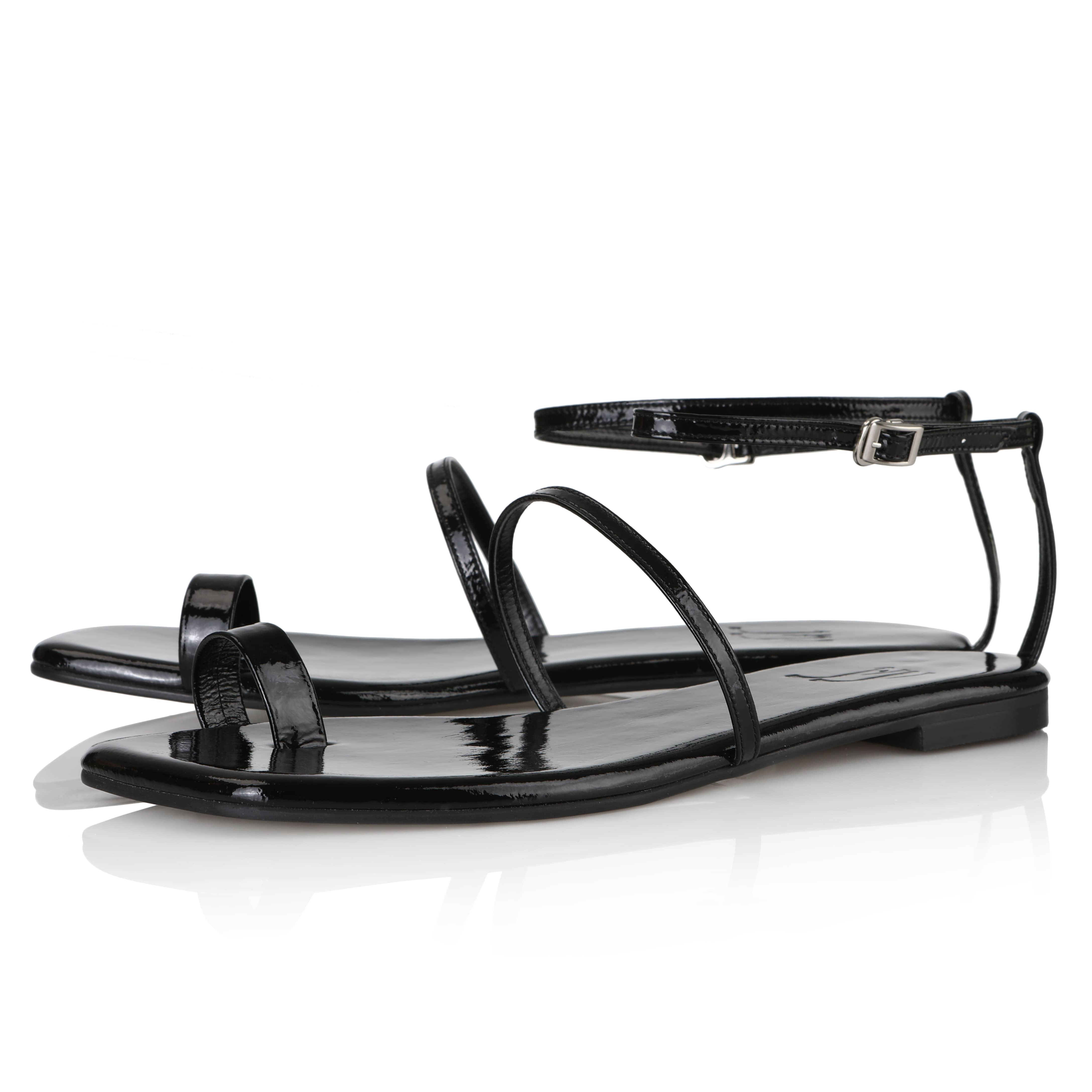 Y.01 Jane Candy Back T Sandals / YY20S-S48 / Black