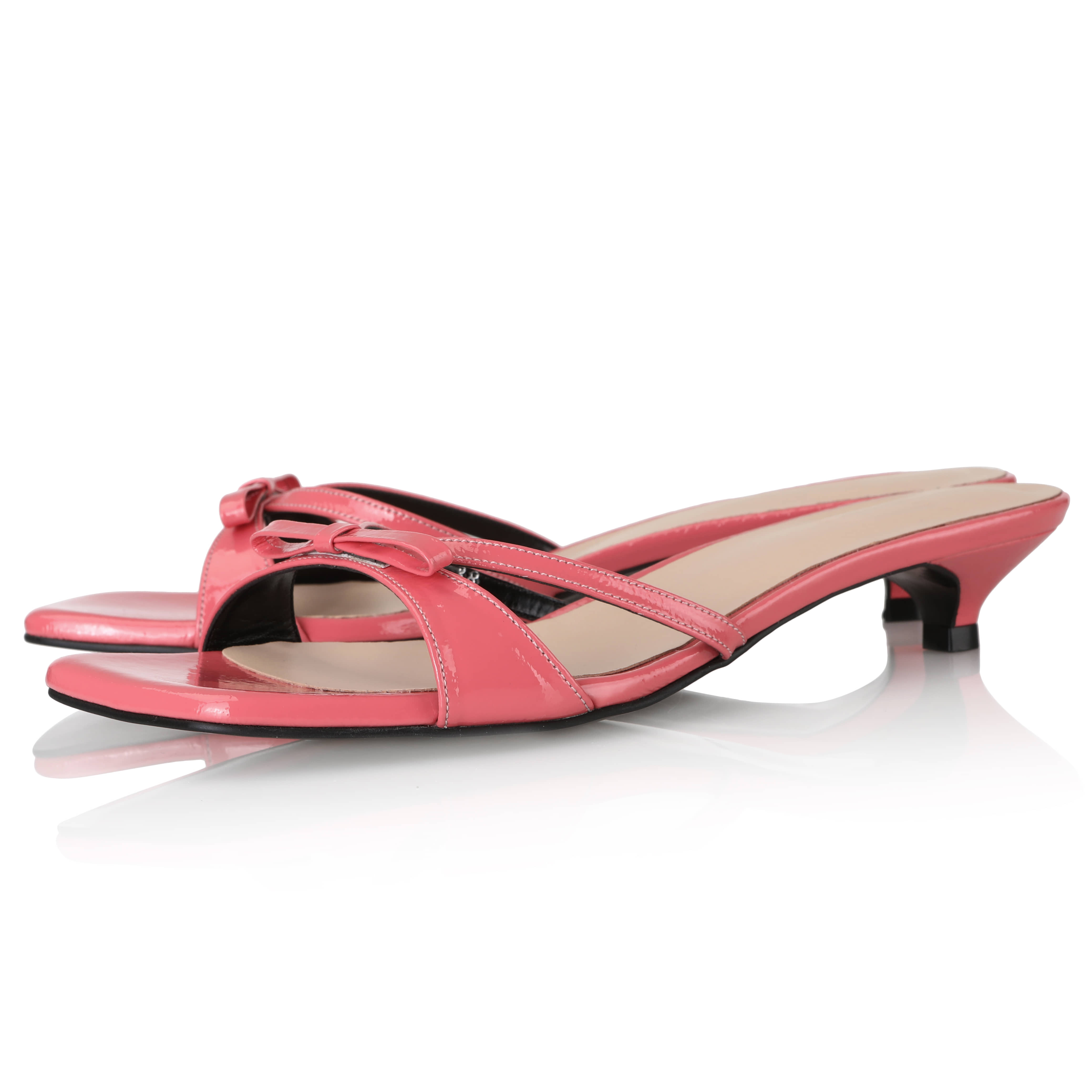 Y.01 Jane Candy Kitten Mules / YY20S-S44 / Coral Pink
