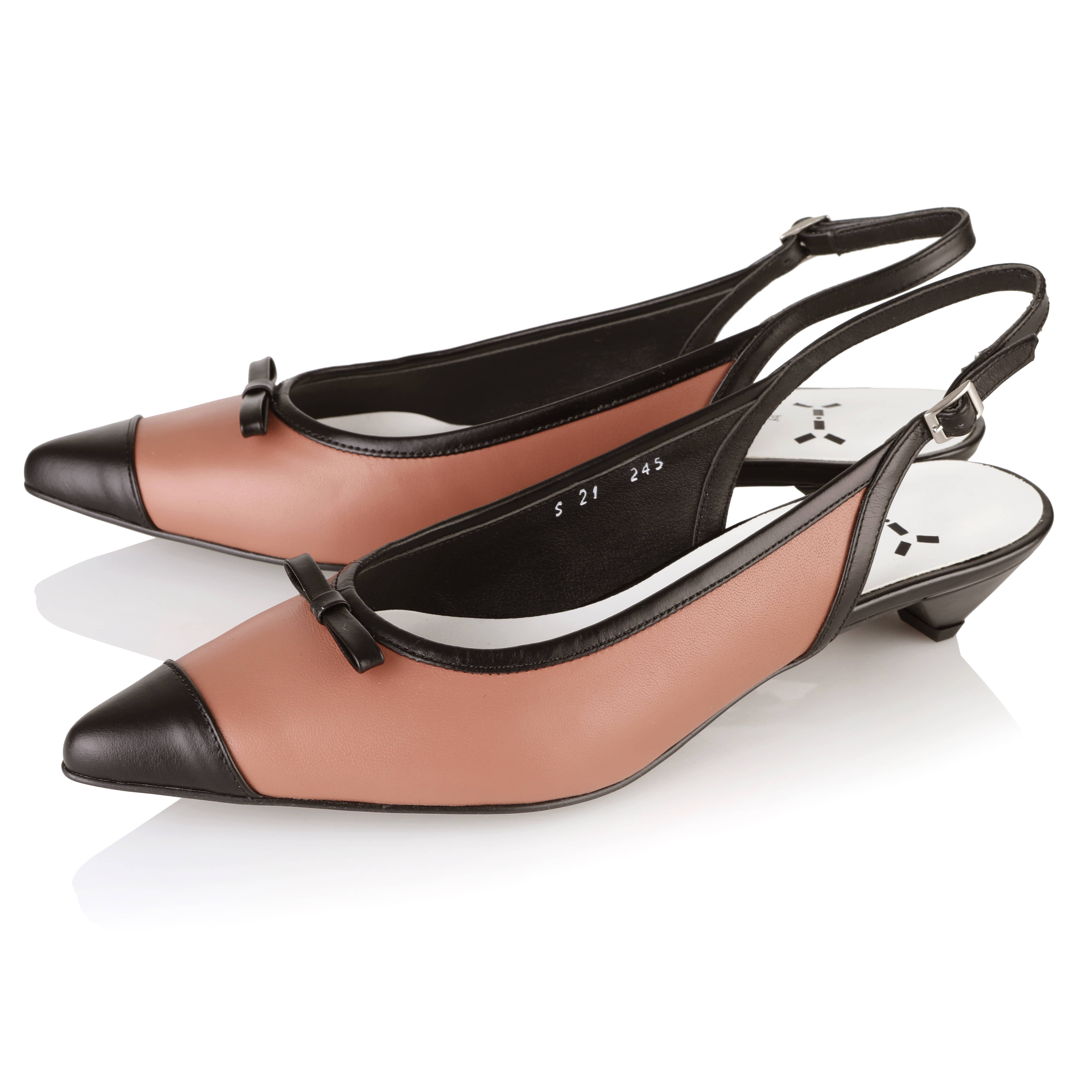 Dazzle Scent Flat Sling-back 3cm / YY8S-S21 / Rosy + Black