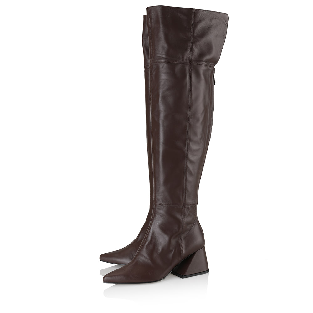 Melody over-the-knee boots / YY9A-B12 / DARK BROWN