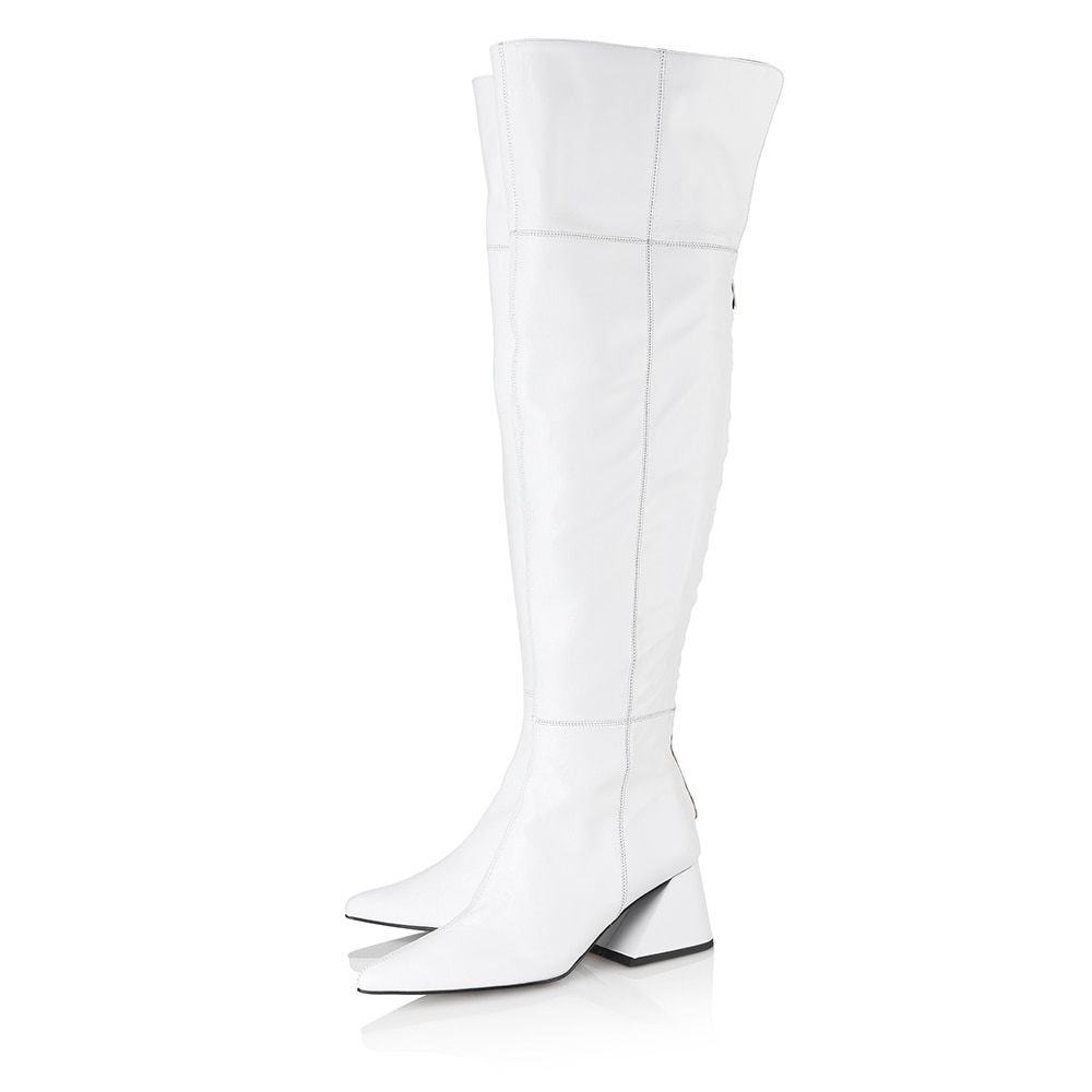 Melody over-the-knee boots / YY9A-B12 / WHITE