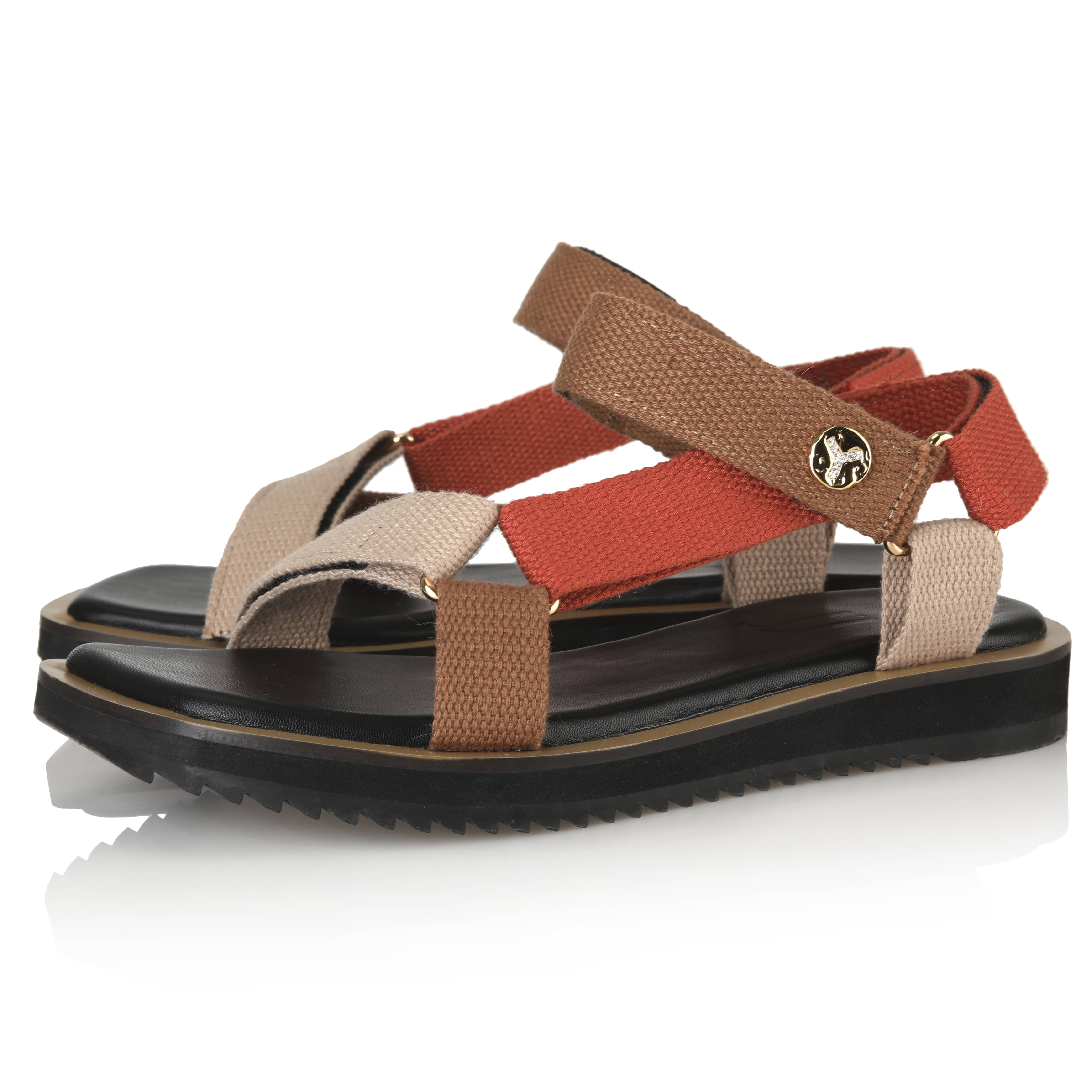 Y.02 Moly Strap sandals / BEIGE+ORANGE