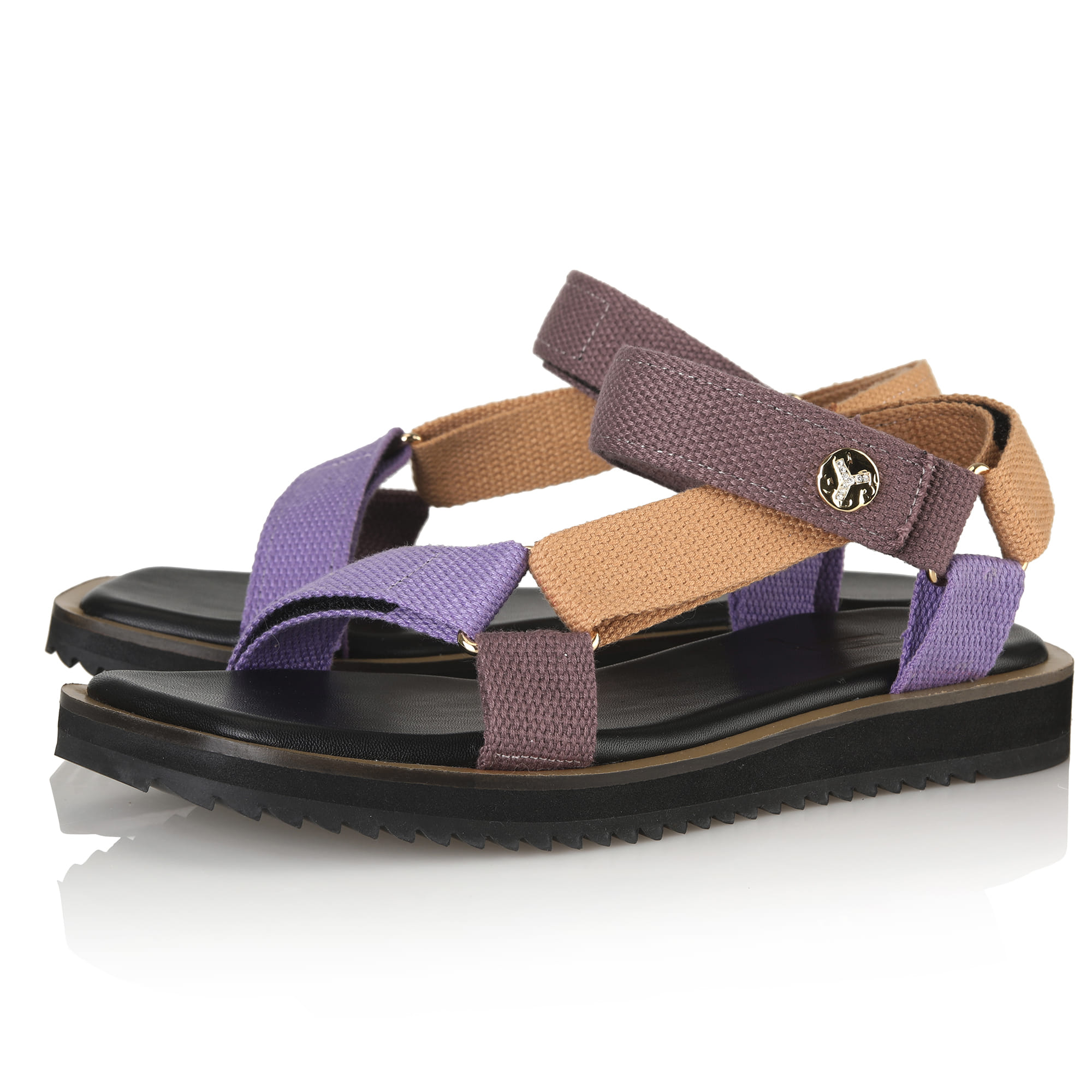 Y.02 Moly Strap sandals / PURPLE+MUSTARD