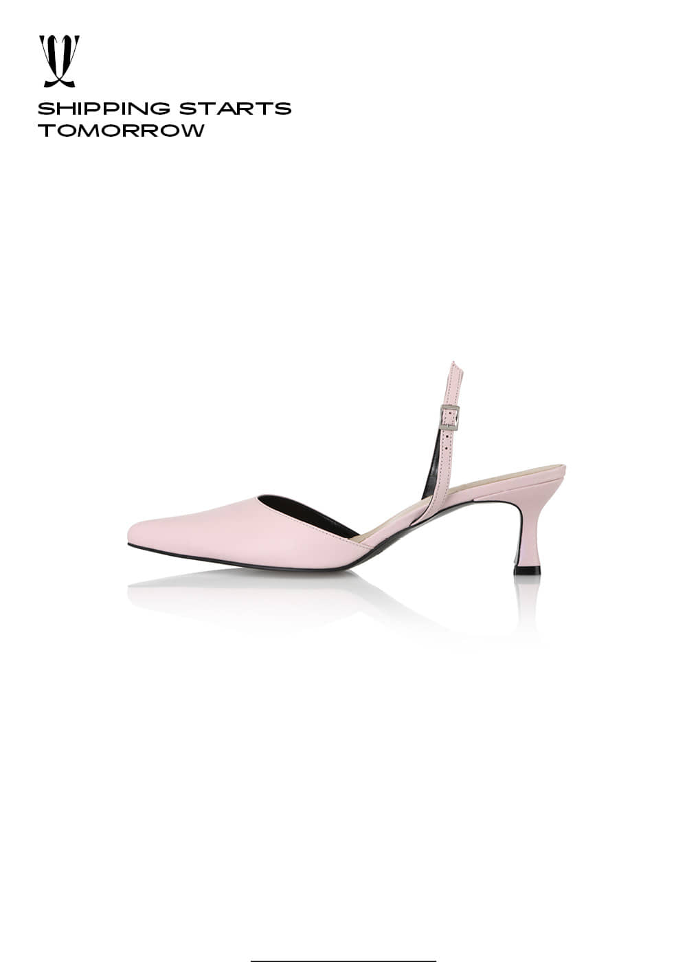 [EXPRESS] Y.00 Lucid Slingbacks / YY20S-S40 / POWDER PINK / IT 36