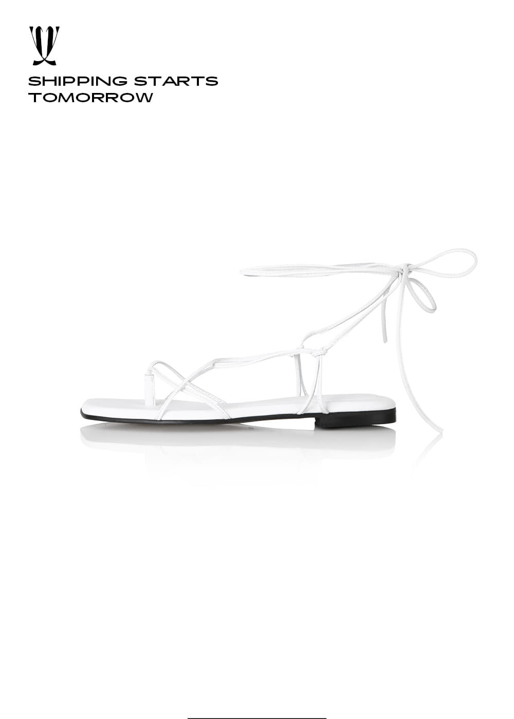 [EXPRESS] Y.01 Jane Candy Lace-Up Flats / YY20S-S46 / WHITE / IT 37