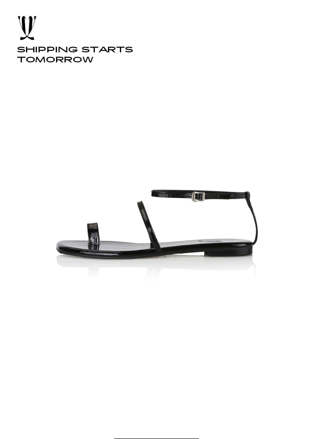 [EXPRESS] Y.01 Jane Candy Back T Sandals / YY20S-S48 / BLACK / IT 36
