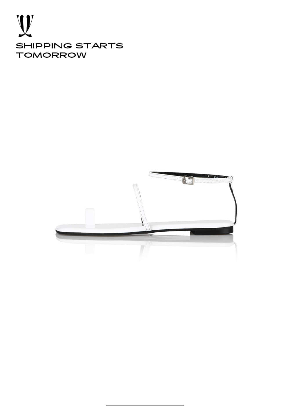 [EXPRESS] Y.01 Jane Candy Back T Sandals / YY20S-S48 / WHITE / IT 36