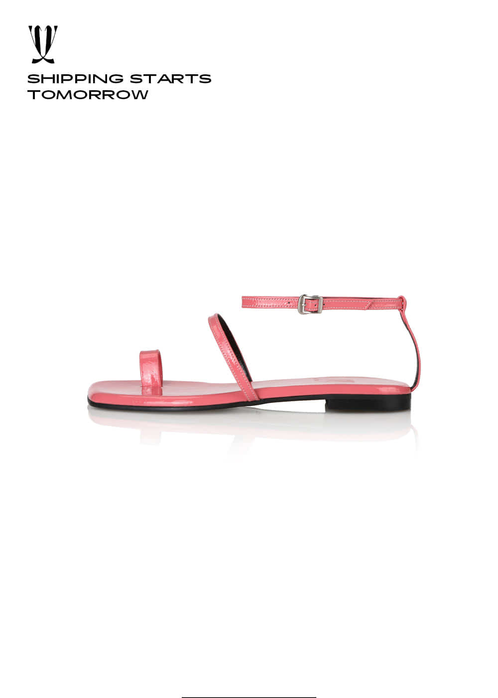 [EXPRESS] Y.01 Jane Candy Back T Sandals / YY20S-S48 / CORAL PINK / IT 37