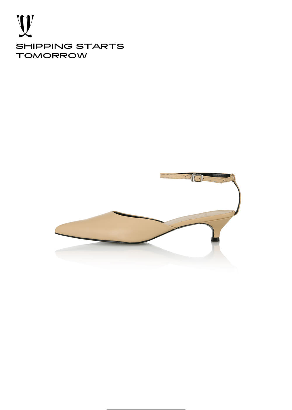 [EXPRESS] Y.00 Back T Sandals / YY20S-S43 / PALE SKIN / IT 36