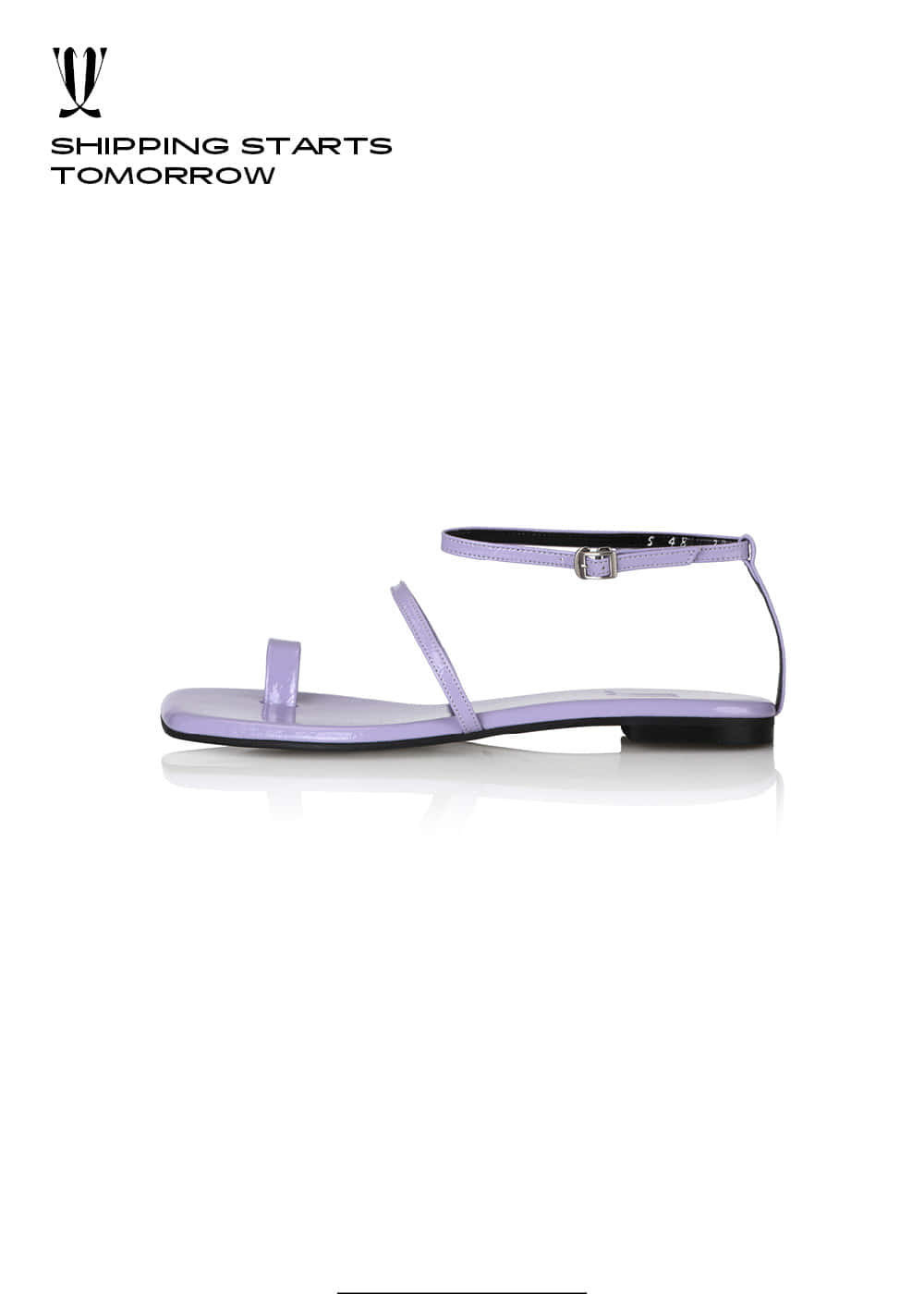[EXPRESS] Y.01 Jane Candy Back T Sandals / YY20S-S48 / LILAC / IT 37