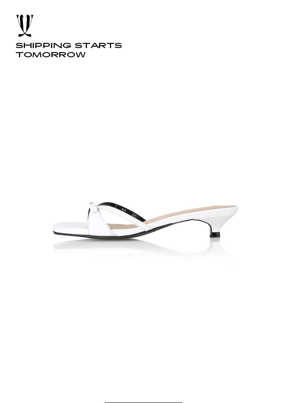 [EXPRESS] Y.01 Jane Candy Kitten Mules / YY20S-S44 / WHITE / IT 36