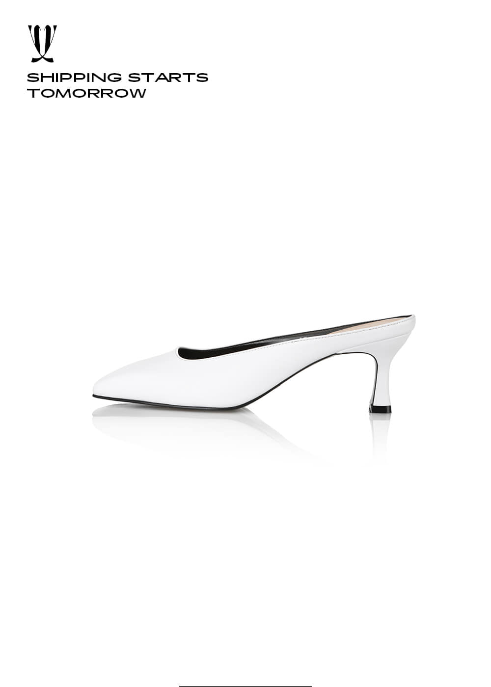 [EXPRESS] Y.00 Square Toe Mules / YY20S-S42 / WHITE  / IT 37
